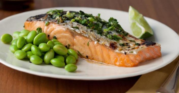 salmon edamame